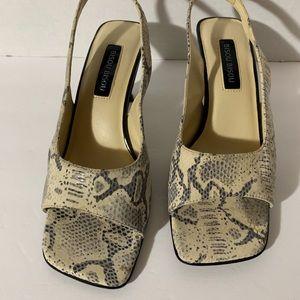 Bisou Bisou Shoes - Bisou Bisou grey snakeskin 8.5 heel